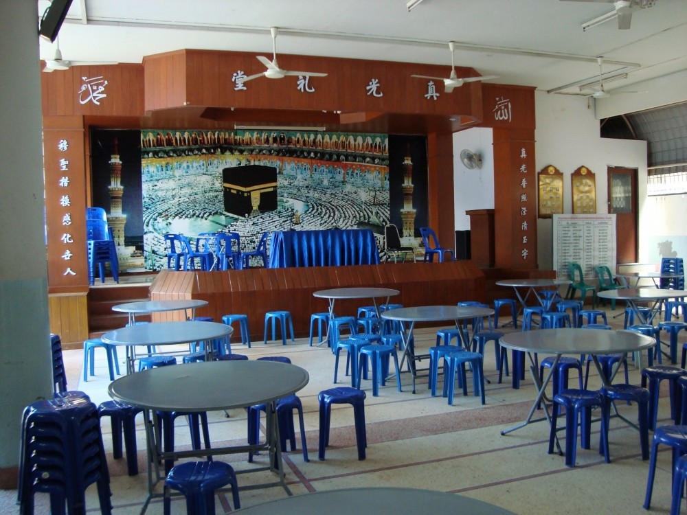 Bangkok congregation room with global plastic chairs