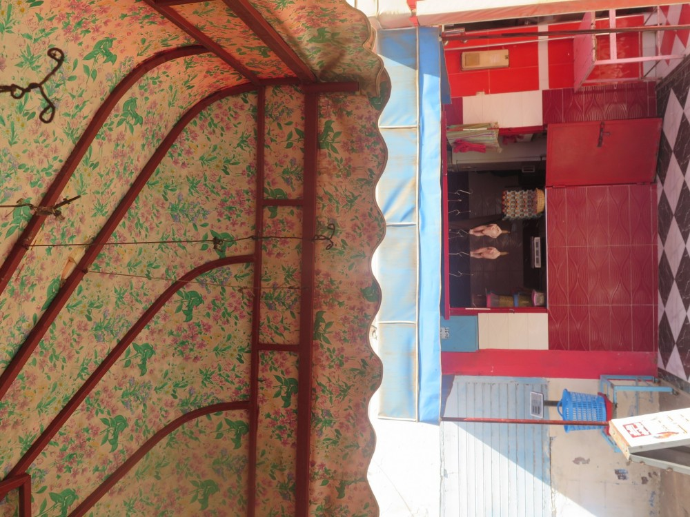 Typical Moroccan butcher design with red tiles