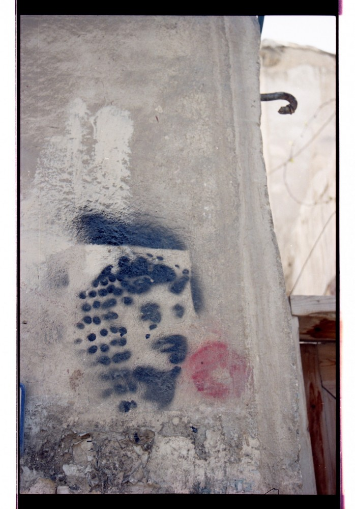 Stencil of Arafat, Damascus