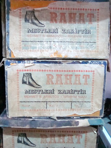 1950s (?) vintage shoe box for handmade prayer shoes (mest)